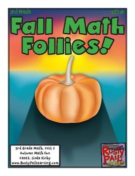 Fall Fun-Math Problem Solving–3rd Grade-Sneak Peek (Halloween, Thanksgiving)