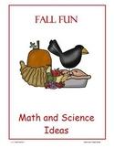 Fall Fun Math, Science and Literacy ideas