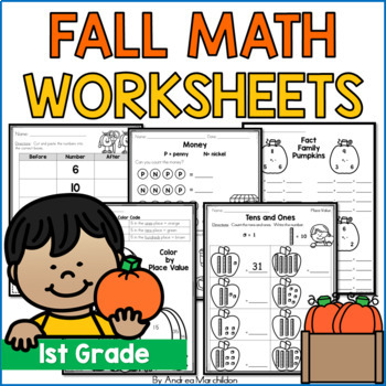 Fall Counting Worksheet Teaching Resources | Teachers Pay Teachers