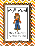 First Grade Centers: Fall