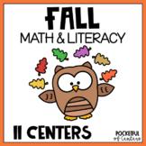 Fall Centers: Math & Literacy Activities for Pre-K & Kindergarten BUNDLE