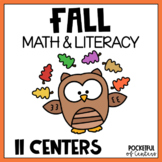 Fall Math and Literacy Centers for Pre-K and Kindergarten