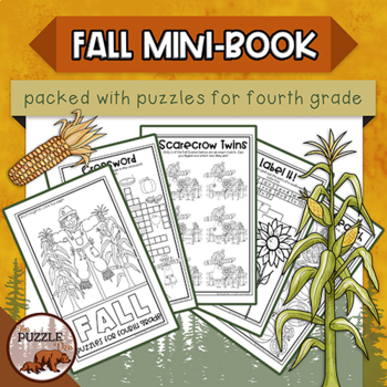 Fall Fun Mini-Book of Puzzles for Fourth Graders