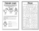 Fall Fun Mini-Book of Puzzles for Third Graders