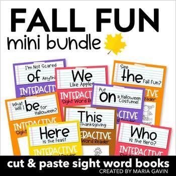 Fall Fun Mini Bundle of Interactive Sight Word Readers