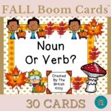 Fall Fun Noun Or Verb Boom Cards™