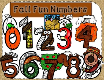 Fall Fun Number Clip Art by Kid-E-Clips Personal Commercial