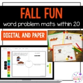 Fall Fun One Step Word Problems within 20!