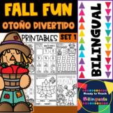 Fall Fun - Otoño Divertido - Printables - Set 1 - Bilingual