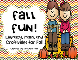 Fall Fun Pack! {Literacy, Math, and Craft Activities for Fall}