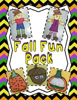 Fall Fun Pack--Scarecrows, Pumpkins & Acorns