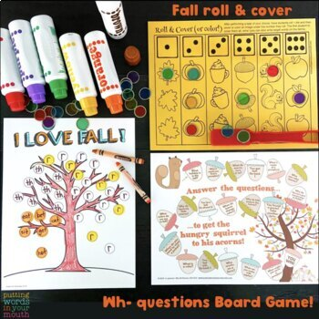 Fall Fun Pack {for speech/language therapy or classroom fun!}