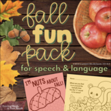 Speech and Language Therapy Activities & Homework - Fall Fun Pack!