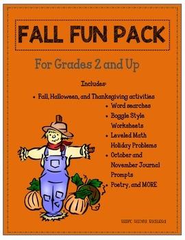 Fall Fun Packet