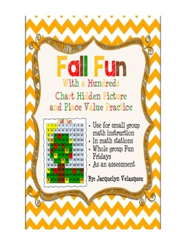 Fall Fun Place Value and Hundreds Chart Hidden Picture