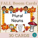Fall Fun Plural Nouns -S -ES -IES Boom Cards™