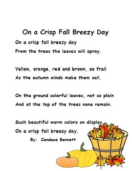Fall Fun - Poem, Word Work and Reading Response Graphic Organizer