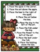 Fall Fun Positional Words File Folder Game