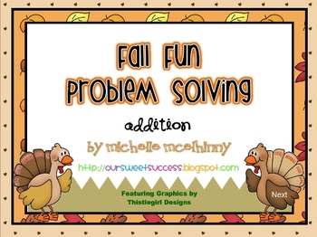 Fall Fun Problem Solving {Addition}