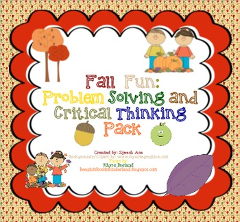 Fall Fun: Problem Solving and Critical Thinking Pack