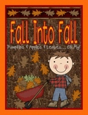 Fall Into Fall A Fall Unit: Fall Activities, Fall Printabl