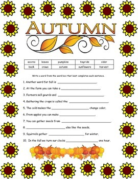 Fall Fun Puzzle Packet