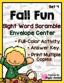 Fall Fun Sight Word Scramble Envelope Center Set 4