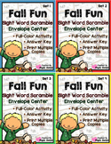 Fall Fun Sight Word Scramble Envelope Centers Bundle