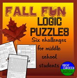 Fall Fun- Six Logic Puzzles and Brain Teasers for Middle School