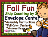 Fall Fun Skip Counting by 2 Envelope Center