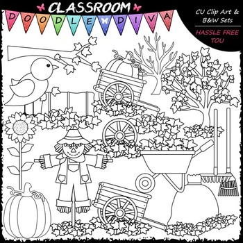 Fall Fun Stuff Clip Art - Autumn Clip Art - Fall Clip Art