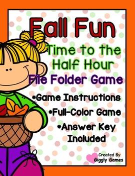 Fall Fun Time to the Half Hour File Folder Game