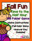 Fall Fun Time to the Half Hour File Folder Game