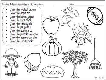 Fall Fun Vocabulary Books- 5 Books in 1!!