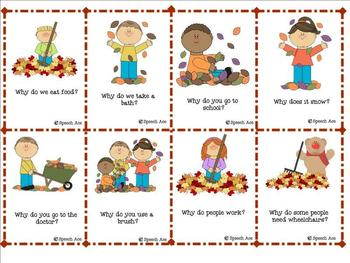 """Fall Fun: """"WH"""" questions"""