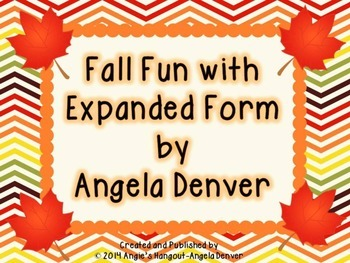 Fall Fun With Expanded Form