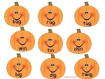 Fall Fun Word Family Sorting