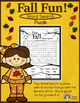 "Fall & Thanksgiving Word Search Worksheets -""Fun"""