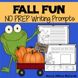 Fall Writing Prompts  NO PREP