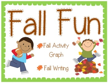 Fall Fun Graph and Writing Activity (First Day of Fall)