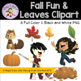 Fall Fun and Leaves Clip Art
