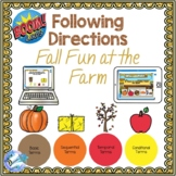 Fall Fun at the Farm Following Directions Speech Therapy