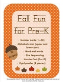 Fall Fun for Pre-K  (numbers, ABC, sequencing, word wall)