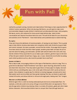 Fall Fun for Preschoolers