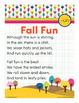 Fall Fun - un Word Family Poem of the Week