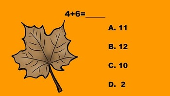 Fall Fun with Addition and Subtraction PowerPoint Game