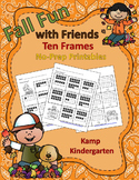 Fall Fun with Friends Ten Frames No-Prep Printables Quanti