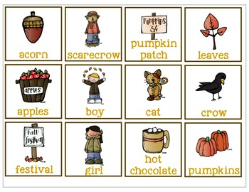 Fall Fun with Nouns and Adjectives