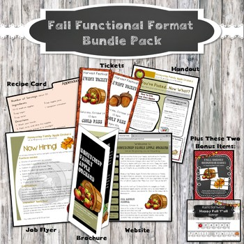 Fall Functional Format Text GROWING Bundle