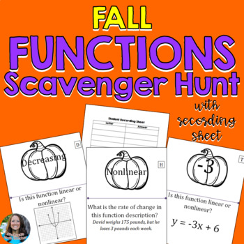 Fall Functions Pumpkin Scavenger Hunt Activity